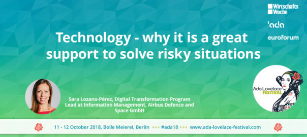 Technology - why it is a great support to solve risky situations (Sara Lozano Pérez)